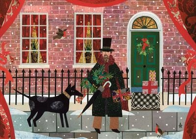 Mr Dickens and his Dog in Doughty Street, Christmas Eve