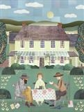 A Bloomsbury Tea Party by amanda white, Painting, Cut Paper Collage ©Amanda White