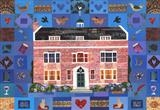 A Dickensian Patchwork: Gad's Hill Place by amanda white, Painting, Cut Paper Collage ©Amanda White