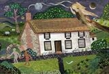 Albion in Sussex: Blake's Cottage,  Felpham by amanda white, Painting, Cut Paper Collage ©Amanda White