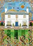 Autumn Days, Wentworth Place by amanda white, Painting, Cut Paper Collage ©Amanda White