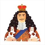 Charles II by amanda white, Illustration, Cut Paper Collage ©Amanda White