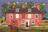 Chawton Cottage Caller by amanda white, Painting, Cut Paper Collage ©Amanda White