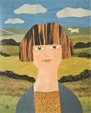 Country Life had a Soothing Effect on Her by amanda white, Painting, Cut Paper Collage ©Amanda White