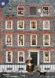 Dr Johnson, his House in Gough Square and Hodge, his Cat by amanda white, Giclee Print