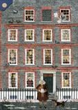 Dr Johnson, his House in Gough Square and his Cat, Hodge by amanda white, Painting, Cut Paper Collage ©Amanda White