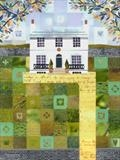 Hampstead Landscape: Letter from Naples by amanda white, Painting, Cut Paper Collage