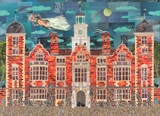 Haunted Blickling Hall by amanda white, Illustration, Cut Paper Collage ©Amanda White