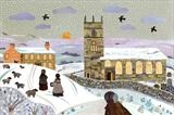 Haworth Winter by amanda white, Painting, Cut Paper Collage