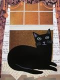 Hodge, A Literary Cat by amanda white, Painting, Cut Paper Collage