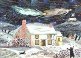 Holy Night, Felpham by amanda white, Painting, Cut Paper Collage ©Amanda White