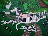 Mazeppa´s Ride by amanda white, Painting, Acrylic on canvas