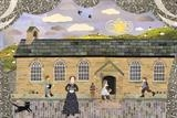 Miss Brontë Taught at the Village School Room by amanda white, Painting, Cut Paper Collage ©Amanda White
