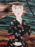Miss Cotterell was a Martyr to Her Illness by amanda white, Painting, Cut Paper Collage ©Amanda White