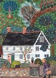 Monk's House Visitor: Mrs Bell by amanda white, Painting, Cut Paper Collage ©Amanda White