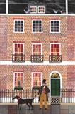Mr Dickens and his Dog in Doughty Street by amanda white, Painting, Cut Paper Collage ©Amanda White