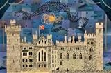 Murmuration, Arundel Castle by amanda white, Painting, Cut Paper Collage ©Amanda White
