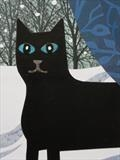 Polly in the Snow by amanda white, Painting, Cut Paper Collage