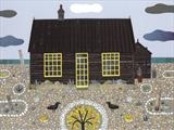 Prospect Cottage by amanda white, Painting, Cut Paper Collage ©Amanda White