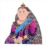Queen Victoria by amanda white, Illustration, Cut Paper Collage ©Amanda White