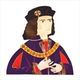 Richard III by amanda white, Illustration, Cut Paper Collage ©Amanda White