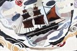 Sailing to Italy by amanda white, Painting, Cut and Torn Paper Collage