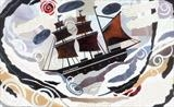 Sailing to Italy by amanda white, Giclee Print