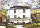 Sheep and Storm, Dove Cottage, Grasmere by amanda white, Giclee Print