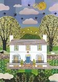 Summer Skies, Hampstead by amanda white, Illustration, Cut Paper Collage