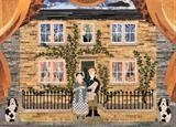 The Brontë Family at Thornton Parsonage by amanda white, Illustration, Cut Paper Collage ©Amanda White