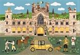 The Yellow Earl by amanda white, Illustration, Cut Paper Collage ©Amanda White