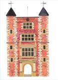 Tudor Tower, Sissinghurst by amanda white, Painting, Cut Paper Collage