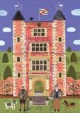 Vita and Harold in their Sissinghurst Garden by amanda white, Painting, Cut Paper Collage ©Amanda White