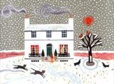 Winter Snows by amanda white, Painting, Cut Paper Collage ©Amanda White
