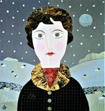 WinterThoughts by amanda white, Painting, Cut Paper Collage ©Amanda White