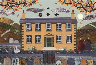 Autumn Evening, Haworth Parsonage (with geese) by amanda white, Giclee Print, Giclee Print