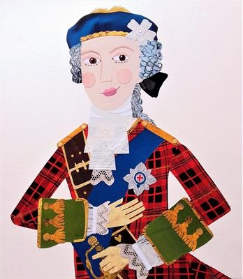 Bonnie Prince Charlie by amanda white, Illustration, Cut Paper Collage ©Amanda White