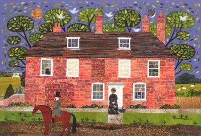 Chawton Cottage Caller by amanda white, Giclee Print, Giclee Print