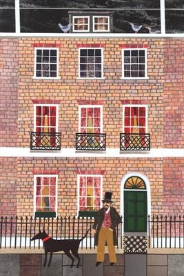 Mr Dickens and his Dog in Doughty Street by amanda white, Giclee Print, Giclee Print