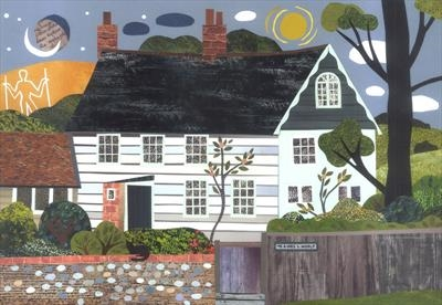Night and Day, Monk's House, Rodmell by amanda white, Giclee Print, Giclee Print