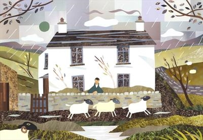Sheep and Storm, Dove Cottage, Grasmere by amanda white, Giclee Print, Giclee Print