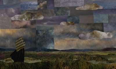 The Culloden Widow by amanda white, Painting, Cut Paper Collage ©Amanda White