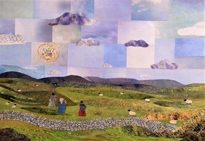 Walking the Moors by amanda white, Painting, Cut Paper Collage ©Amanda White