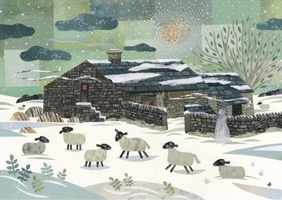 Wild December, Top Withens by amanda white, Illustration, Cut Paper Collage ©Amanda White